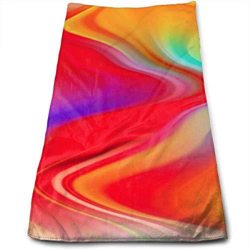 Hgdfhfgd Toallas de mano de mármol de color abstracto líquido, toallas de baño ultra suaves y absorbentes, toallas de ducha, toallas de hotel y gimnasio, 30,5 x 27,5 pulgadas