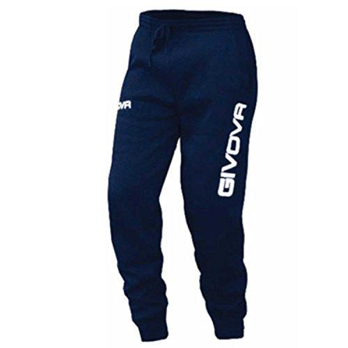 Givova Cotone Pantalone da Ginnastica, Blu, S