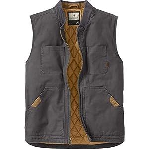 Men's Canvas Cross Trail Vest Charcoal Big-Tall XXXXX-Large