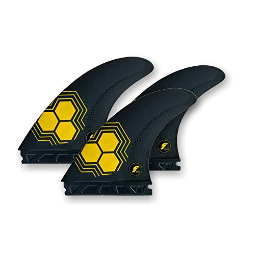 Future Fins FAM2 Alfa Thruster Juego de aletas Carbono-Amarillo L