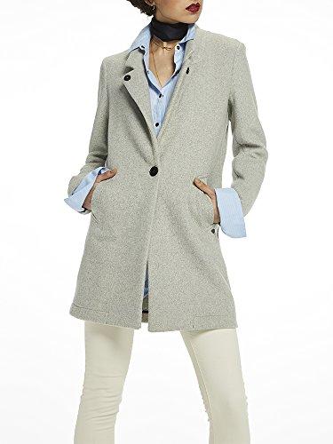 Scotch & Soda Bonded Wool Coat Cappotto, Grigio (Grey Melange 0A), X-Large Donna