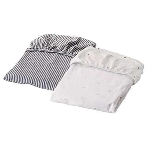 Ikea Solgul Spannbettlaken für Wiege Dotted Stripe 19 5/8x31 7/8 703.687.40