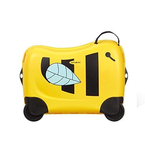 Kinderen Koffer met wielen handbagage Rolling Bagage Cute Can Sit to Ride Travel trolleykoffer Kind Baby Gift Trunk Box Bag, geel Leuk speelgoed voor kinderen. (Color : Yellow)