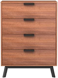 Mainstays Mid Century Modern 4 Drawers Chest in Vintage Umber Finish