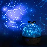 Kids Night Light, Star Projector Baby Night Light with Music Bluetooth Timer, Star Constellation Kids Lamp with 20 Set of Films Remote, Nursery Toddler Night Light for Girls Children Baby - Upgrade