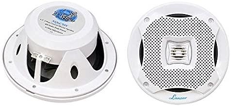 "6.5"" Dual Waterproof Marine Speakers - 400W 4Ohm Outdoor Car/Boat Radio Stereo Speakers Waterproof/Weather Proof Marine Stereo Speakers System Pair - Mounting Kit Speaker Wire, Grill- Lanzar AQ6CXW"