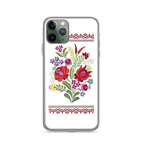 Phone Case Hungarian Folk Design Red Peppers On White Compatible with iPhone 6 6s 7 8 X Xs Xr 11 12 Pro Max Mini Se 2020 Drop Charm