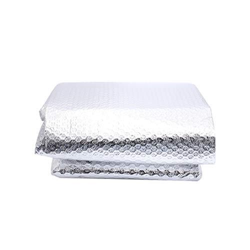 Cabilock - Reflectante de aluminio aislante reflectante de calor película de aislamiento térmico para piscinas, paredes, graneros, conductos de aire, aislamiento Windows radiadores garajes