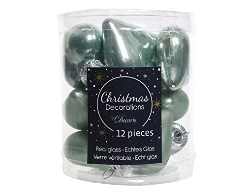 12 hartjes kerstballen kerstballen boomballen eucalyptus 40 mm diameter