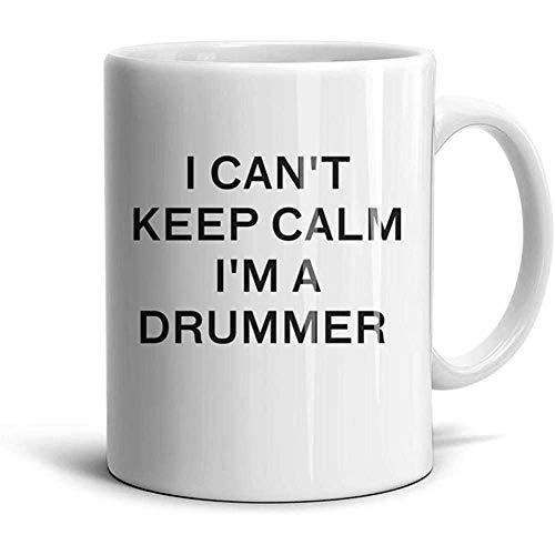 No puedo mantener la calma Soy un baterista Tazas de café inspiradas lindas-Gran regalo, taza