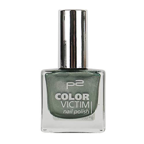 P2 Color Victim Nail Polish Nr. 624 Final Countdown Farbe: Khaki/Silber/Grau Inhalt: 8ml - Nagellack für tolle Nägel.