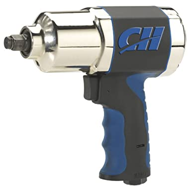Air Impact Wrench - Twin Hammer 1/2  Impact Driver w/ Composite Body and Comfort Grip (Campbell Hausfeld TL140200AV)