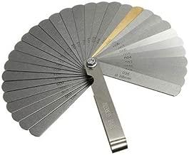 32 Blades Steel Feeler Gauge Dual Marked Metric and Imperial Gap Measuring Tool