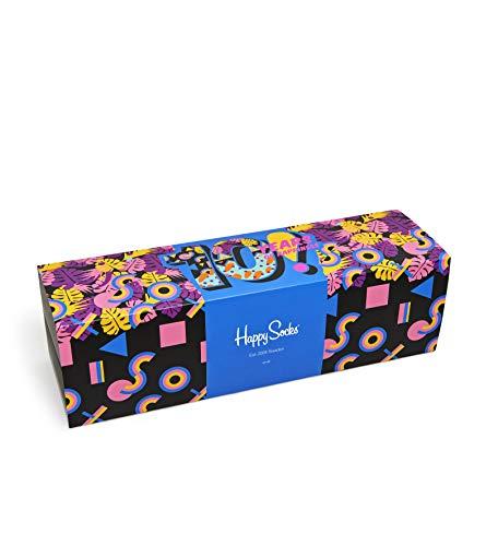 Happy Socks Herren Socken 10 Year Anniversary GIFt Box, 11Er Pack, Schwarz (Schwarz 9000), One Size (Herstellergröße. 41-46)