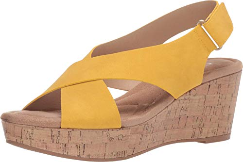 CL by Chinese Laundry Women's Wedge Sandal, Lemon Yellow, 9.5