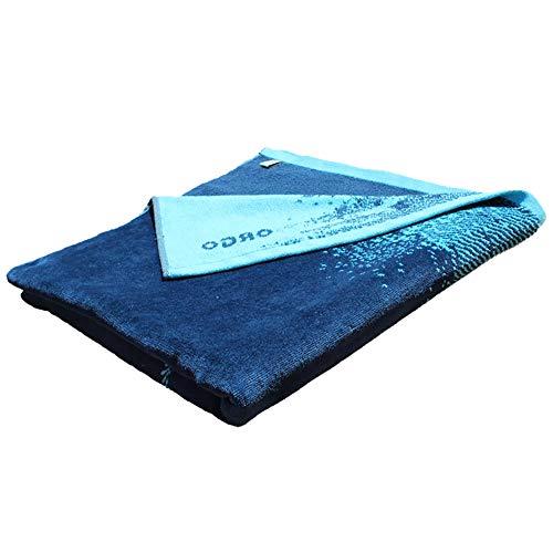 Orgo Belle Isle – Faro de Bella Ila – Toalla de playa 100 % algodón OEKO-TEX – Diseño en Bretaña, fabricada en Portugal – Eco Responsable – Tamaño: 80 x 160 cm