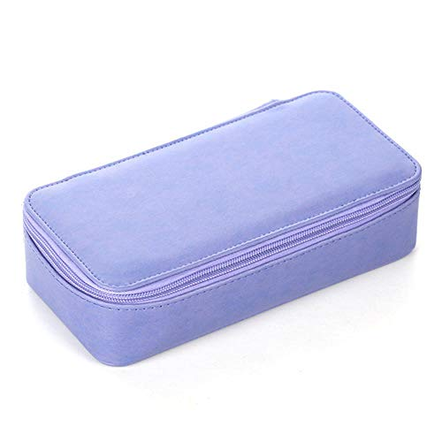 Pen Bags 1Pcs Pu Leather Pencil Case School Supplies Double Layer Escolar School Pencilcase Pencil Box 4