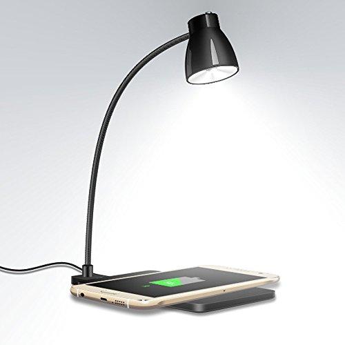 JYKJ LED-bureaulamp met mobiele oplader, draadloos, Qi-oplossing, draadloze oplader voor Samsung Pad draadloze iPhone met bureaulamp LED