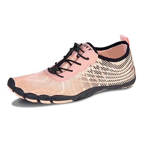 HMIYA Unisex Outdoor Fitnessschuhe Barfußschuhe Trekking Schuhe, Orange S, Gr.- 39 EU