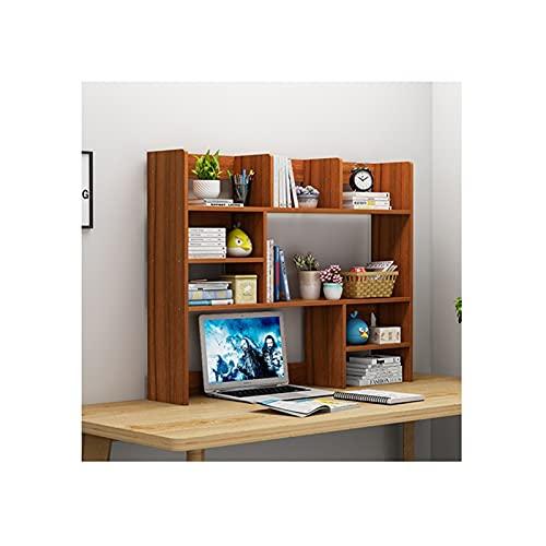 Sujeta Libros Madera Desktop Bookshelf Desk Organizer Office Storage Rack Pantalla Estante Estante Libre Pantalla Verdadero Natural Stand Estantería Estantería Estanterias Libros