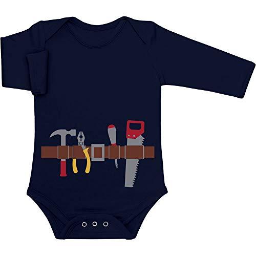 Shirtgeil Handwerker Baby Halloween Kostüm Baby Langarm Body 0-3 Monate Marineblau
