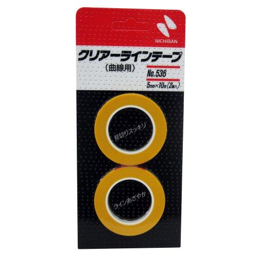 ニチバン クリアラインテープ(曲線用) 幅5mm×長10m No.536