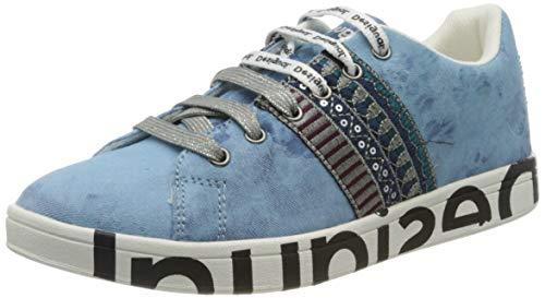 Desigual Shoes Cosmic Exotic, Zapatillas Mujer, Azul Denim Dark Blue 5008, 40 EU