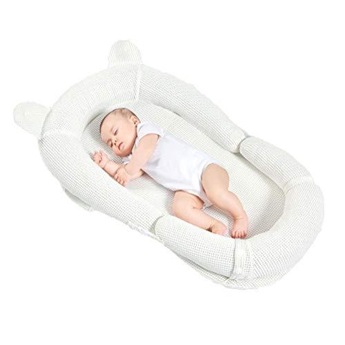 Nouveau-Né Respirant Baby Lounger, Conception Utérine Coussin De Nid pour Bébé - Respirant Et Humide, Détachable Conception Anti-Acariens, Convient Aux 0-3 Ans
