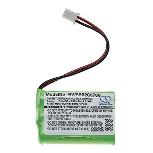 vhbw batería compatible con Motorola MBP481, MBP482, MBP483 monitor de bebés vigilabebés (700mAh, 3.6V, NiMH)