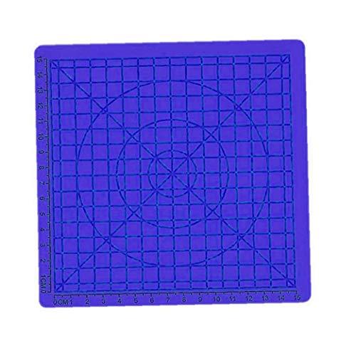 Aiyrchin 3D-Pen Printing-Matten-Auflage Silikon-Matte Große Basic Template Ziehform und geometrische Grund blau habende Werkzeuge für die 3D-Anfänger/Kinder 6.7x6.7x0.11inch