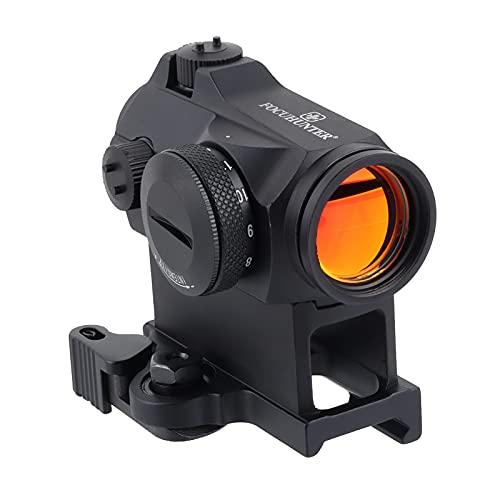 FOCUHUNTER Taktisch Reflex Red Dot Visier 11 Helligkeit Airsoft 2 MOA Sichtweite mit 20mm Schienenmontage zum Jagen und Schießen