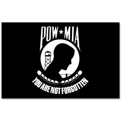 INDIGOS UG Aufkleber Autoaufkleber JDM Die Hart - POW MIA War Flag Sign Symbol - Auto Laptop Tuning Sticker Heckscheibe LKW 152mmx101mm
