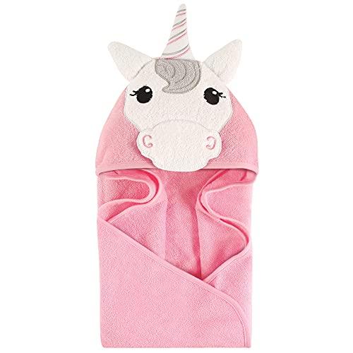 Product Image of the Hudson Baby Unisex Baby Cotton Animal Face Hooded Towel, Unicorn, One Size