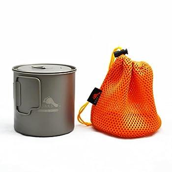 TOAKS Tasse/Pot de Camping Portable Ultraléger en Titane (650ml[POT-650-L])