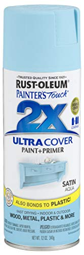 Rust-Oleum 249085 Painter's Touch Multi Purpose Spray Paint, 12-Ounce, Satin Aqua