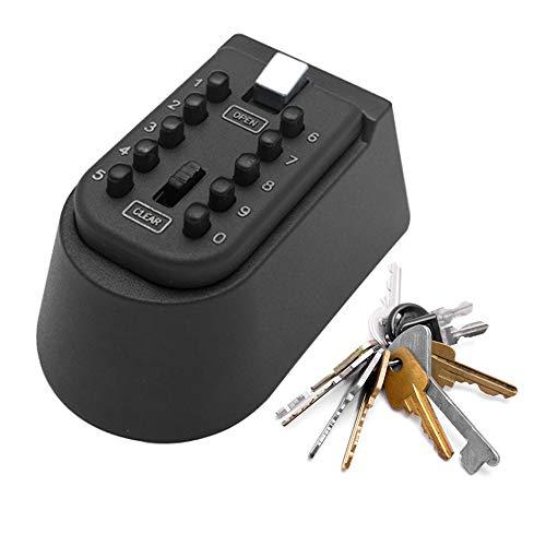SISHUINIANHUA Caja de Bloqueo de Almacenamiento de Llaves al Aire Libre montado en la Pared 10 dígitos pulsador Combinado contraseña Clave Caja Segura código reiniciable código Clave
