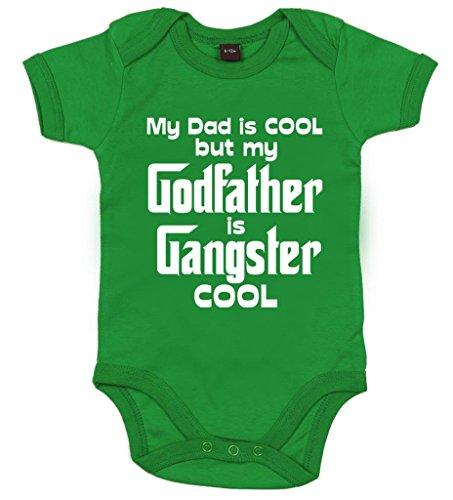 Image Vêtements bébé, My Dad is Cool But My Godfather is Gangster Cool, Body Bébé Fille, 12-18m, Vert