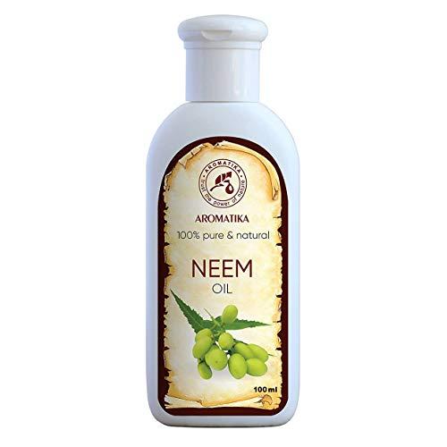 Neemöl 100ml - Kaltgepresst Niemöl - 100% Reines und natürlich Neem Öl - Azadirachta Seed Oil -Intensive Pflege für Gesicht - Körper - Haare - Körperpflege Öl Neem