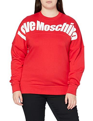 Love Moschino Sweatshirt Sudadera, Red, 38 para Mujer