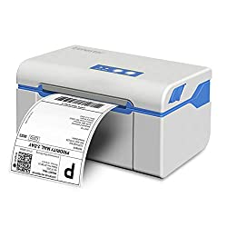 Trohestar GraphPrinter Label Printer, 4 × 6 Shipping Label Printer High Speed Commercial Grade Direct Thermal Printer Barcode Printer Compatible with UPS, FedEx, Amazon, Ebay, Etsy, Shopify (White)
