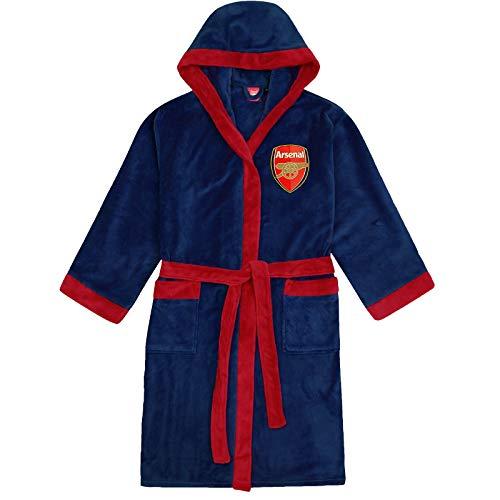 Arsenal FC - Herren Fleece-Bademantel mit Kapuze - offizielles Merchandise Fußballfans - Dunkelblau - S