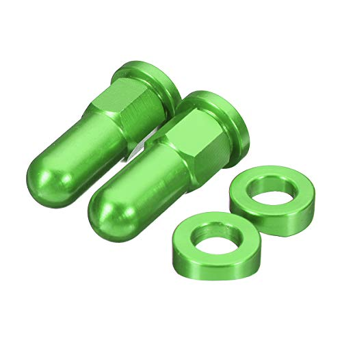 GOZAR Alloy MX Rim Lock Cover Nut Washer Security Bolt for Yamaha Pit Dirt Bike - Green