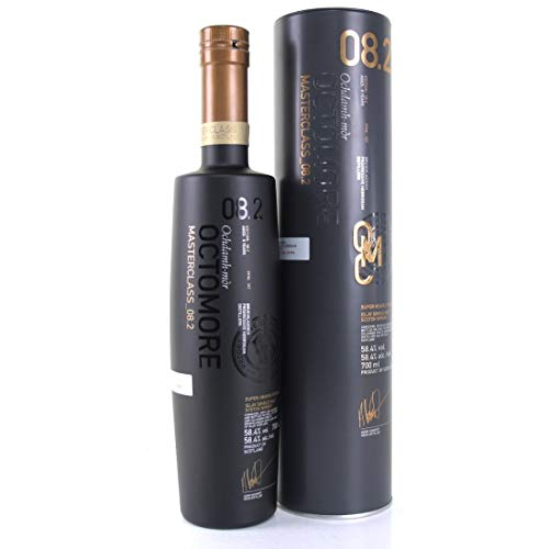 Octomore MASTERCLASS_08.2 SCOTTISH BARLEY Super-Heavily Peated 58,4% Volume 0,7l in Tinbox Whisky