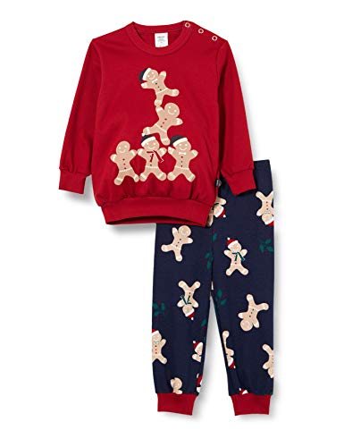 CALIDA Unisex Baby Family & Friends Pyjamaset, Rio red, 80