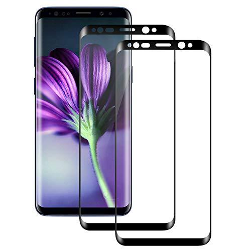 DOSMUNG Protector de Pantalla para Samsung S8, [2 Pack] 3D Full-Cover Cristal Templado para Galaxy S8, Alta Definicion, 9H Dureza, Resistente a Arañazos, Vidrio Templado para S8