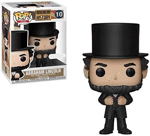 ZGZZ ¡Popular! Historia Americana: Figura de Vinilo Coleccionable de Abraham Lincoln de la Serie Classic Celebrity
