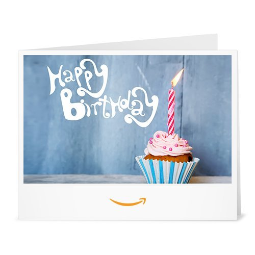 Happy Birthday (Candle with Cupcake) - Printable Amazon.co.uk Gift Voucher