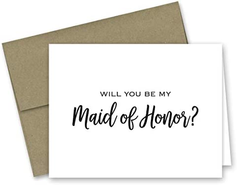 Bridal Party Cards Downloadable Maid of Honor Card Maid of Honor Request Card Maid of Honor Invitations Will You Be My Maid of Honor