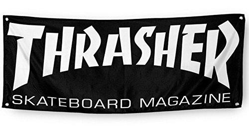 "Thrasher Skateboard Magazine ""Mag Logo"" Cloth Banner"