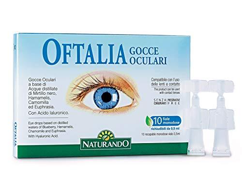 NATURANDO OFTALIA Gocce Oculari 10 fiale monodose. Dispositivo medico ad uso oftalmico per dare sollievo agli occhi